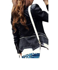 Ladies Pu Leather Jacket Women Pu Leather Jacket F3