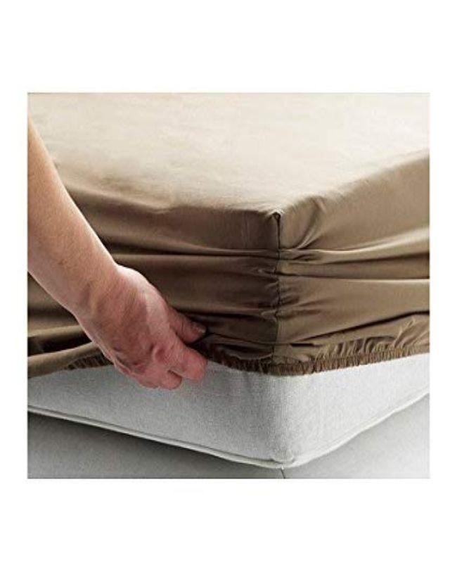 K-Linen Bed Fitted / Mattress Protector   Brown