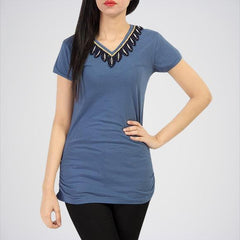 Greyish Blue Cotton Tunic