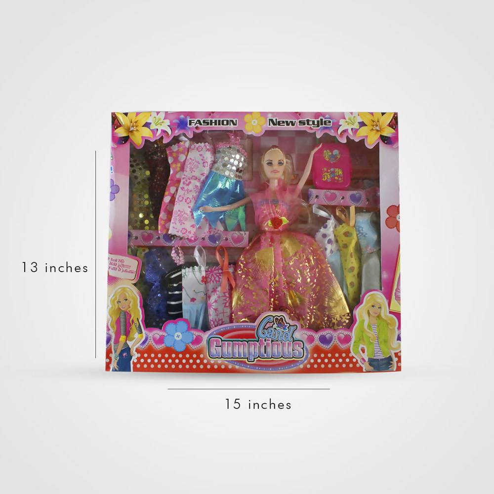 New Fashion Style Barbie Dolls with 12+ Beautiful Dress Set Gift Pack