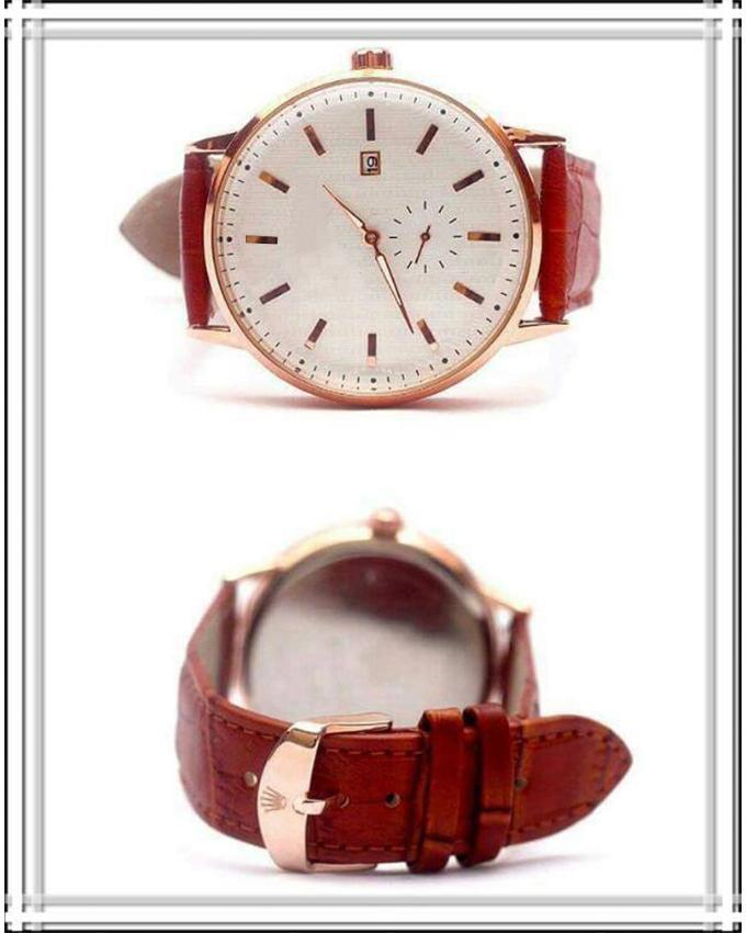 Brown Leather Strap Watch For Men. Ws-179