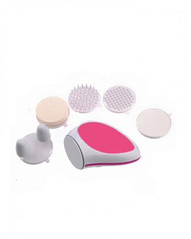 Multifunction Electric Face Massager - White & Pink