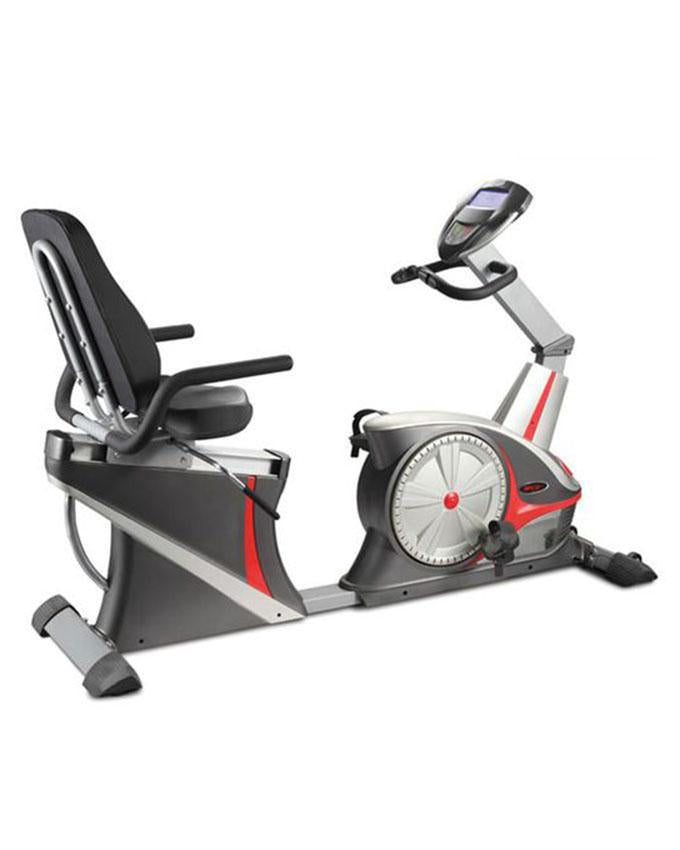 7318 WD - Commercial Recumbent Bike - Silver & Grey