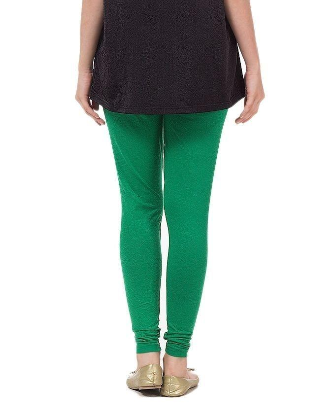 Green Viscose Tights For Women