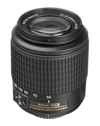 AF-S DX Zoom - NIKKOR 55-200mm f/4-5.6G ED Lens - Black