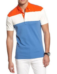 MEN'S CLASSIC CONTRAST PANEL POLO SHIRT #3