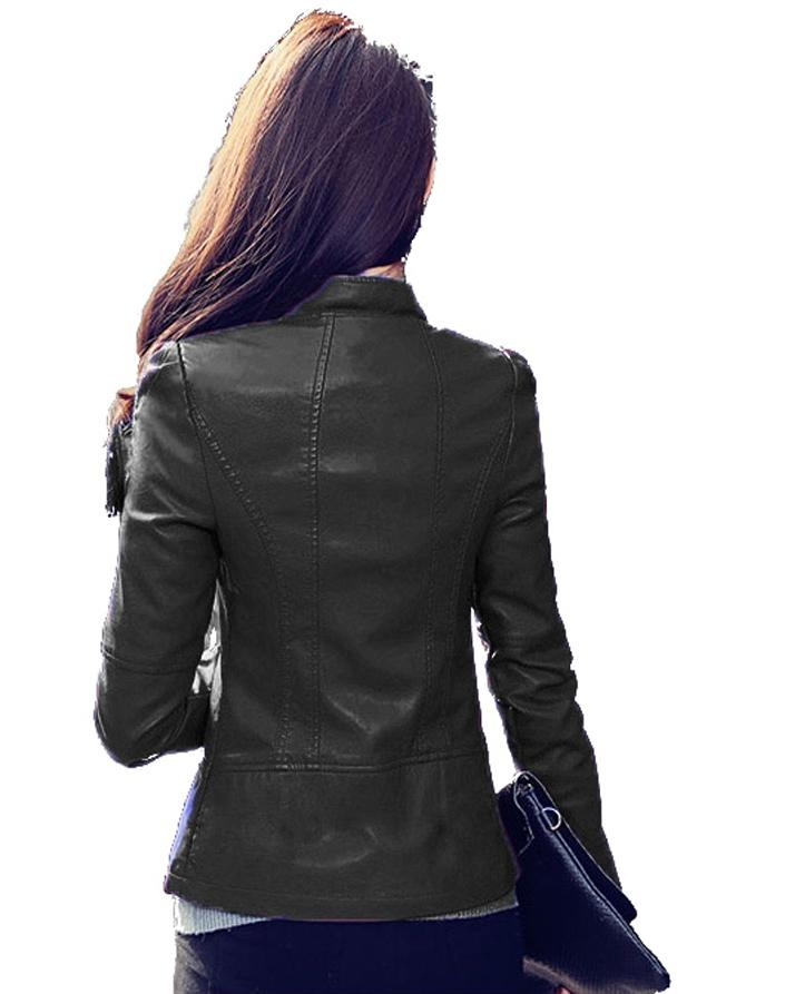 Black Leather Jacket For Women
