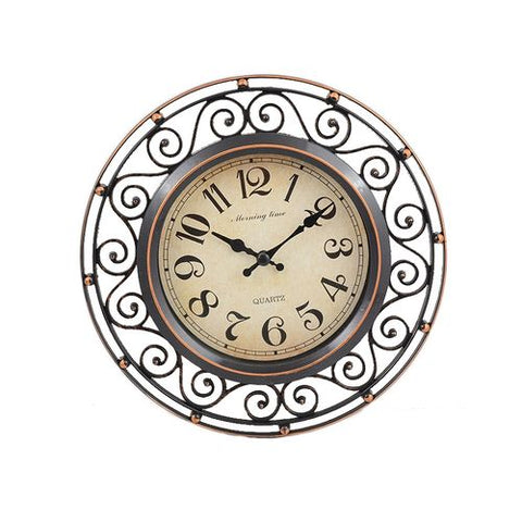 Pack of 3 - Wall Clock With 2 Mirrors - 8x8