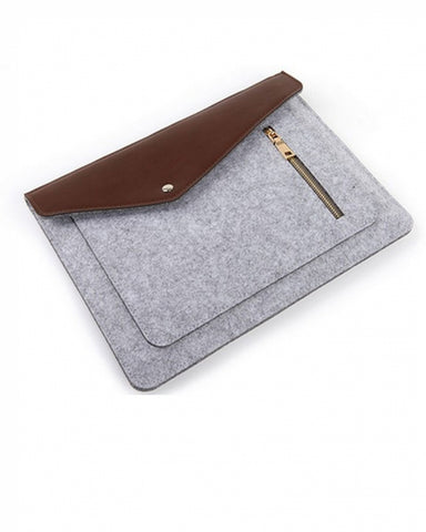 Laptop Sleeve 15.6 Inch Jlyifan Needle Felt Busniess Carrying Sleeve - Silver