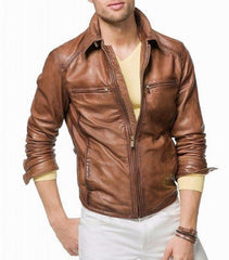 Men Sheep Leather Jacket