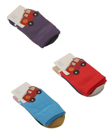 Pack of 3  Soft Cotton Lycra Socks for Babies (0 - 12 Months)  Multicolour
