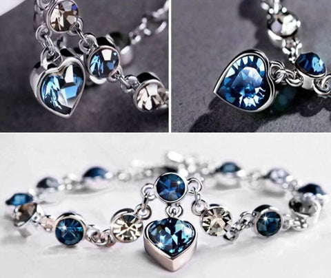 Heart Shaped Crystal Zircon Bracelet