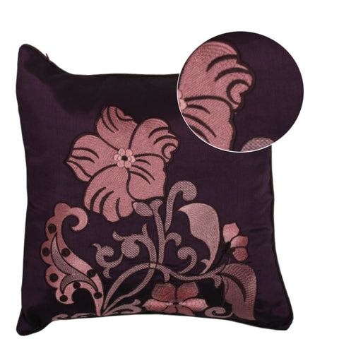 Cushions Silk Embroidery, Sofa Pillow With Polyester Cushion Insert 18x18