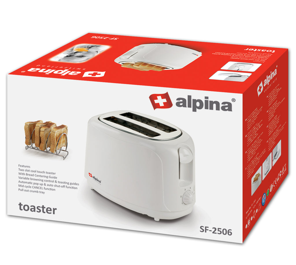 Alpina Cool Touch 2 Slice Toaster 800W SF-2506