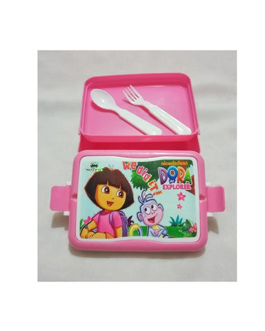 Dora Explorer We did it Lunch Box with Spoon & Fork