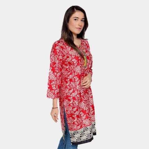 Copy of Red Digital Print Kurtis