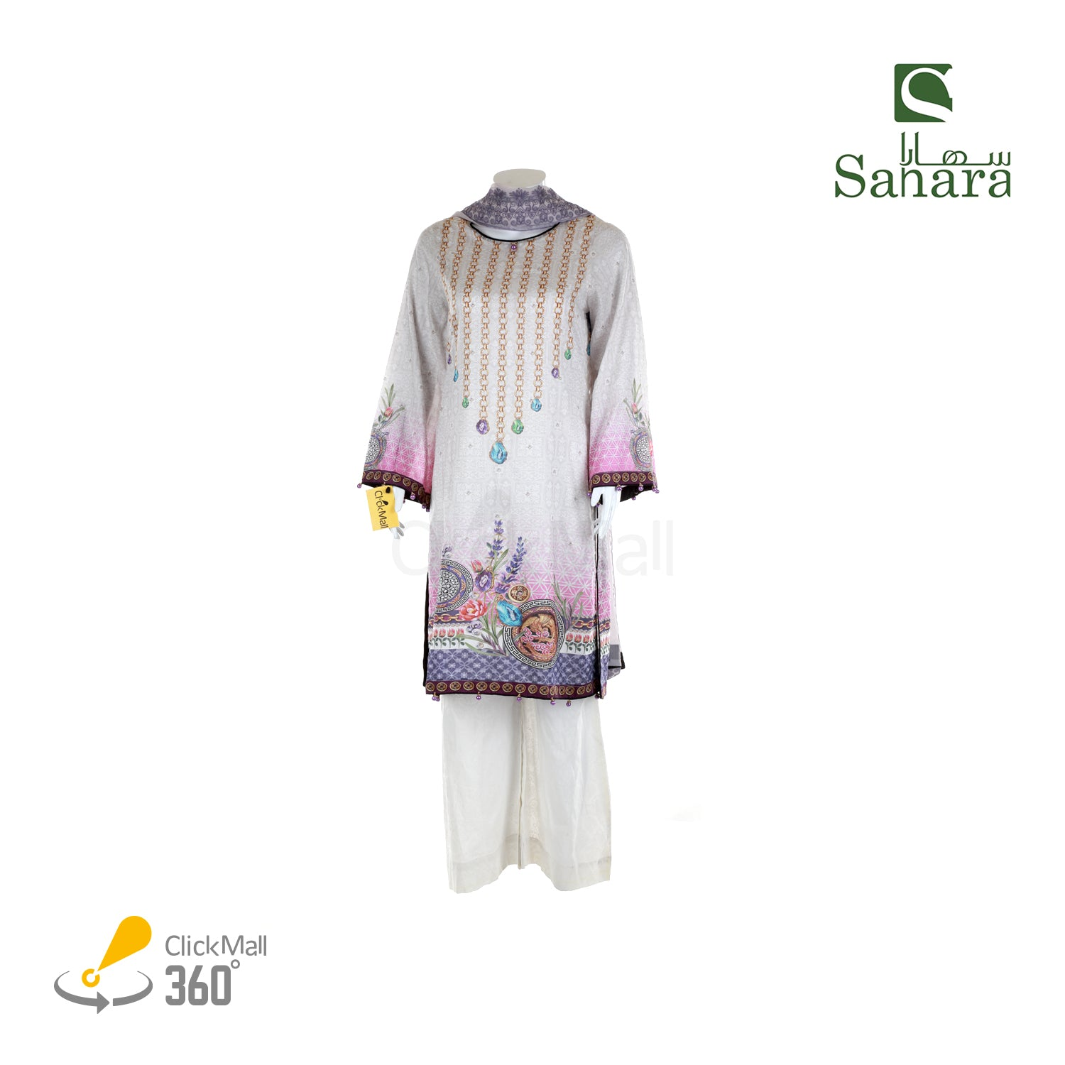 Sahara Embroidered Lawn Suit  MM-EE-07