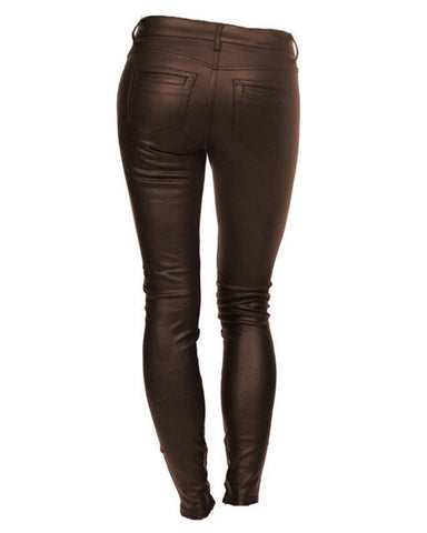 Brown Leather Pant For Women
