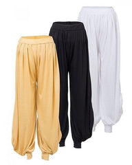Pack of 3 - Viscose Harem Pants for Women - AJ-0984..