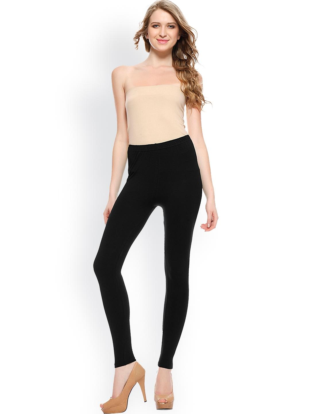 Women's Black Viscose Comfortable Tights. KTY-T244