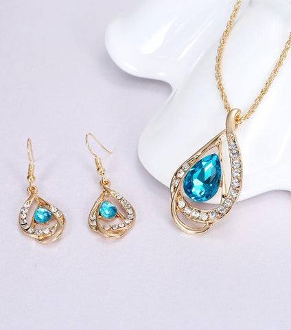 Rhizmal Elizabeth Blue Ruby Jewellery Set