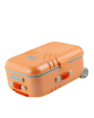 Trolley travel bag music box rotating ballet girl jewelry box