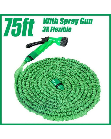 75ft - Expandable & Flexible Water Pipe for Garden & Car wash