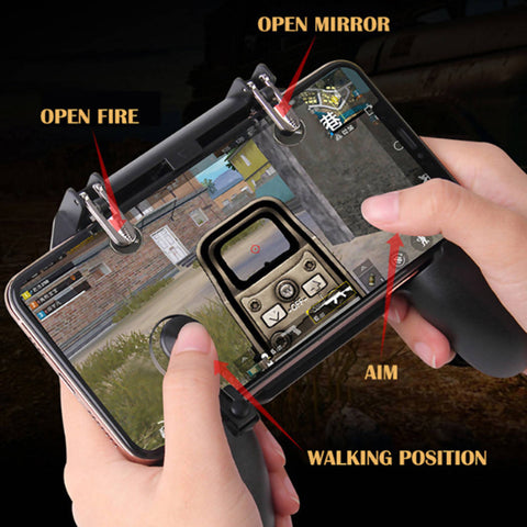 W11+ Game Controller Free Fire PUBG Mobile Joystick Gamepad Metal L1 R1 Button
