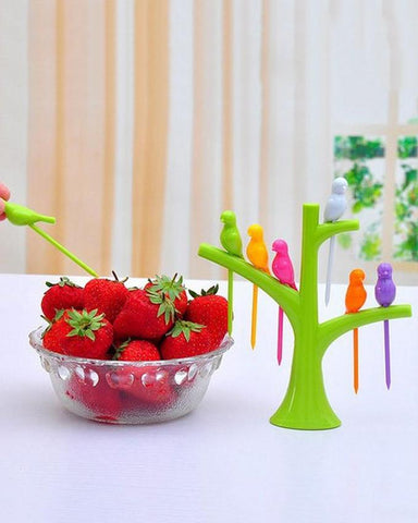 Pack of 2 Birdie Polypropylene Fruit Fork Set