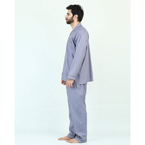 Pack of 2 Cotton Polyester Night Suit (Pajama + Shirt) for Men - Grey UG-438-S