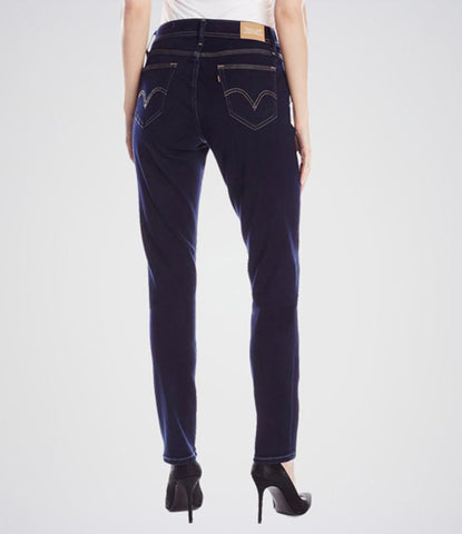 Katy n Cross - Women's Dark Blue Curvy Skinny Jeans. KT-01018