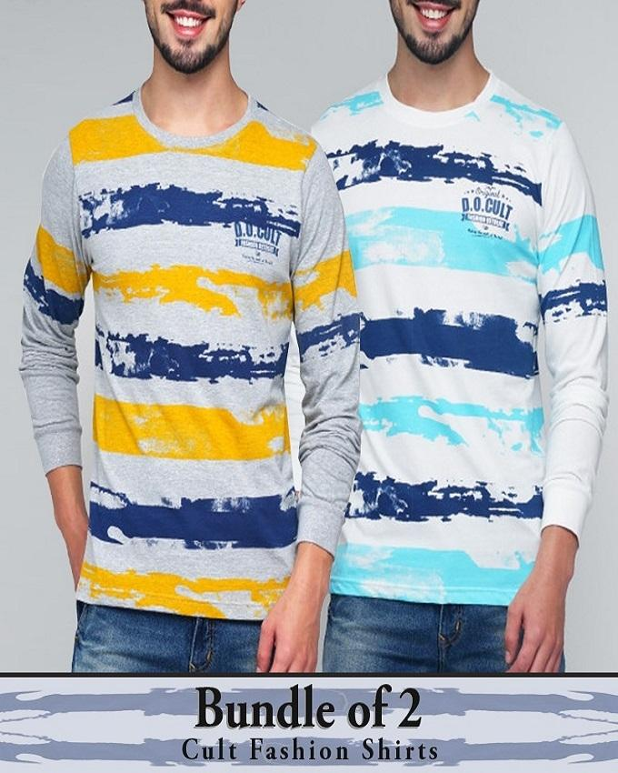 Bundle Of 2 long Sleeve T-Shirt For Men's
