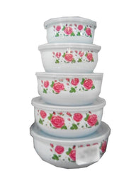 Food Storage Containers - Bowl Sets- 5 Pcs Set