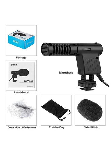 BY-VM01 - Mini Directional Video Condenser Microphone for Canon/Nikon DSLR Camcorder