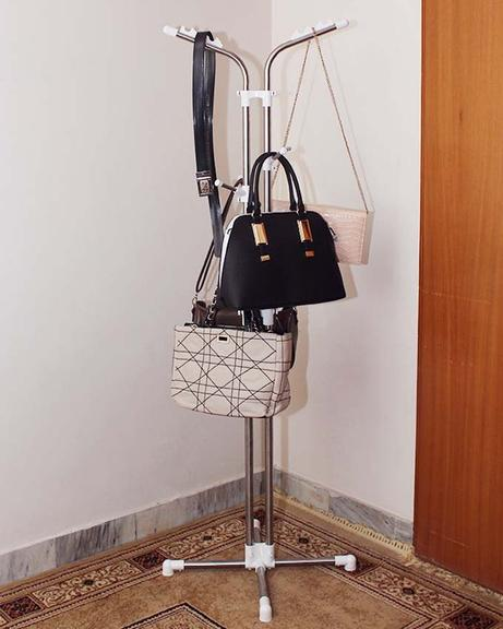Stainless Steel Clothes and Handbag Rack EW-18