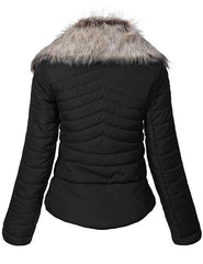 Ladies Parachute Jacket Women Jacket LF-BLACK-01