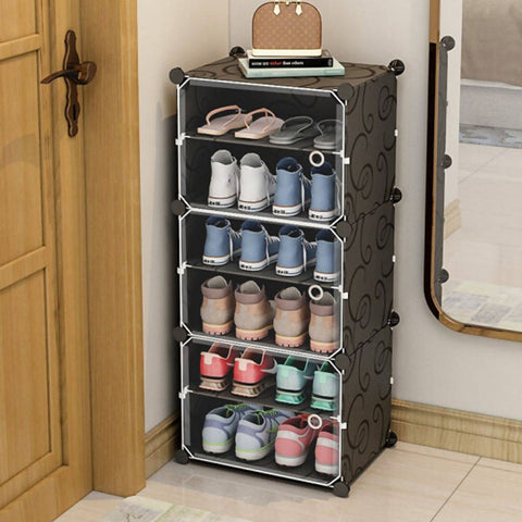 Storage Organizer Homfa 6 & 12 Shelves Cabinet with Doors