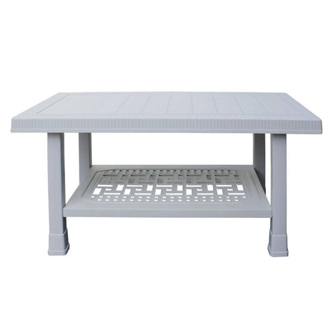 Newly designed Center Table BP-329 Full Plastic Double Shelf Large