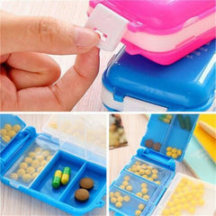 Multipurpose Plastic 8 Compartments Pill Case / Jewelry Box - Multicolor - 2486