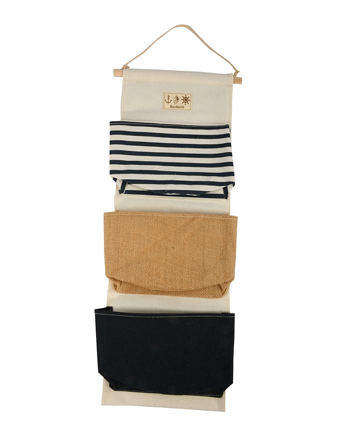 "3 Pockets Cotton Wall Hanging – (9"" x 24"")"