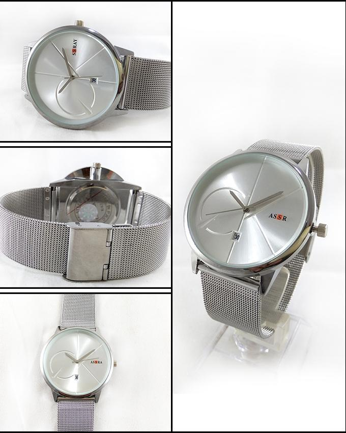 Silver Stainless Steel Watch For Men. WS-62