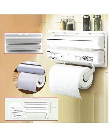 Triple Paper Dispenser - White