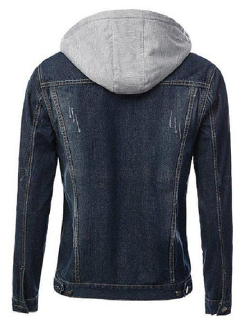 Blue Denim Jacket For Men Djgh 01