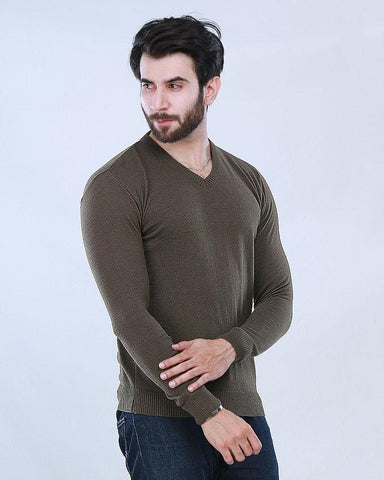 V- Neck olive Sweater