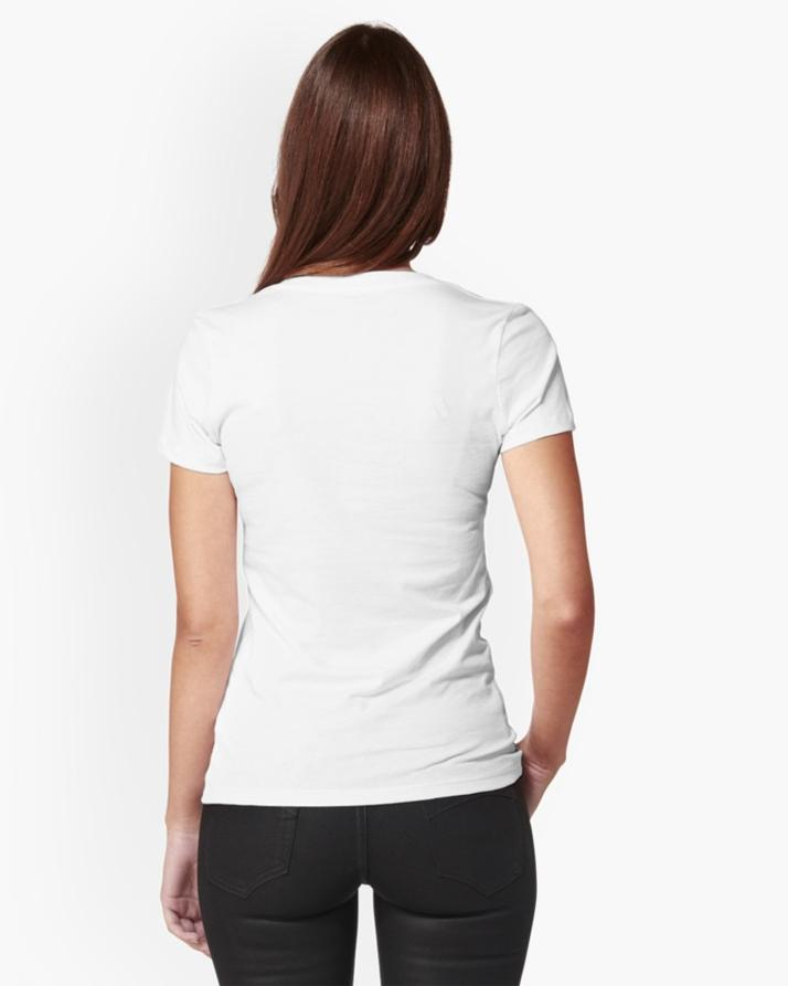 White Think Halal Short Sleeve T-shirt For Women