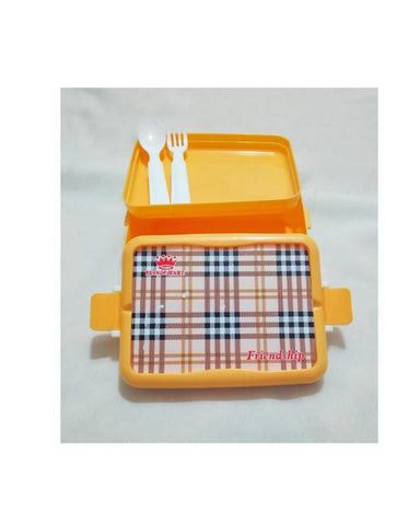 Friendship Lunch Box with Spoon & Fork