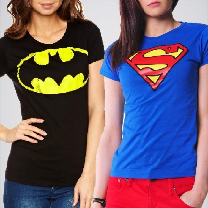 Pack Of 2 Super Ladies Graphic Printed T-Shirts. FS-204