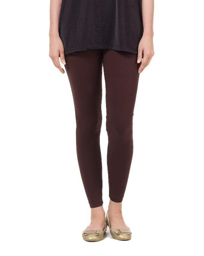 Dark Brown Viscose Tights For Women - AJ-629