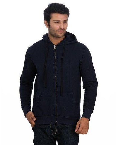 Pack Of 2 Grey/Navy Zipper Hoodies For Men. SS-59