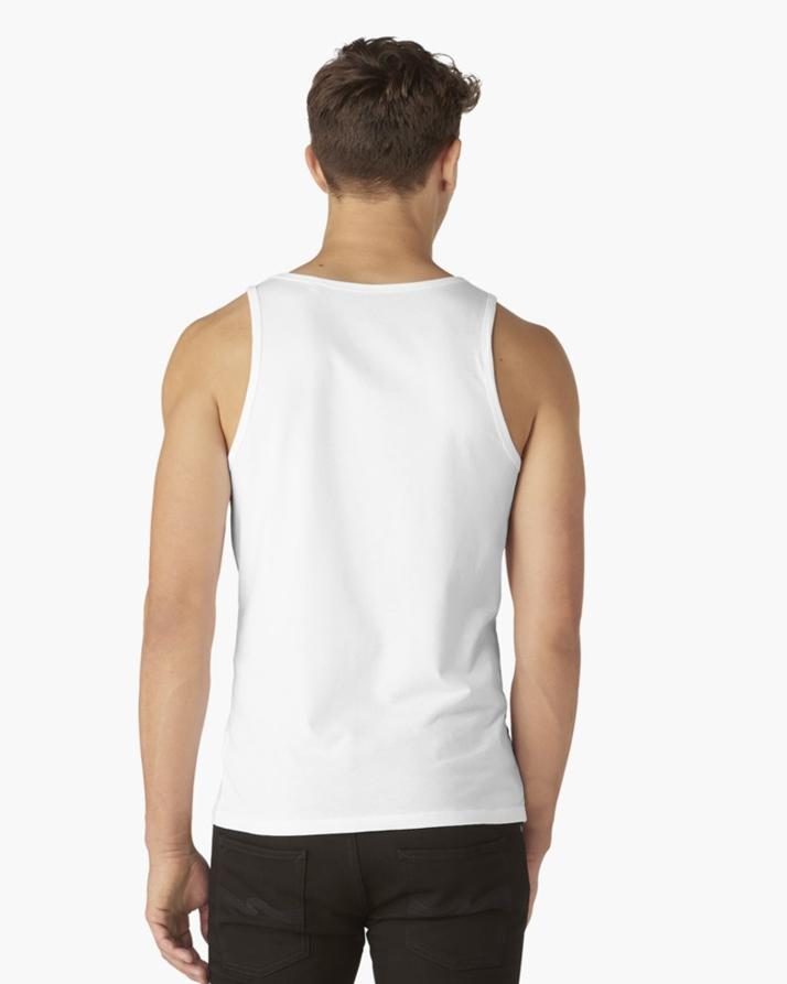 White Think Halal Tank Top For Men